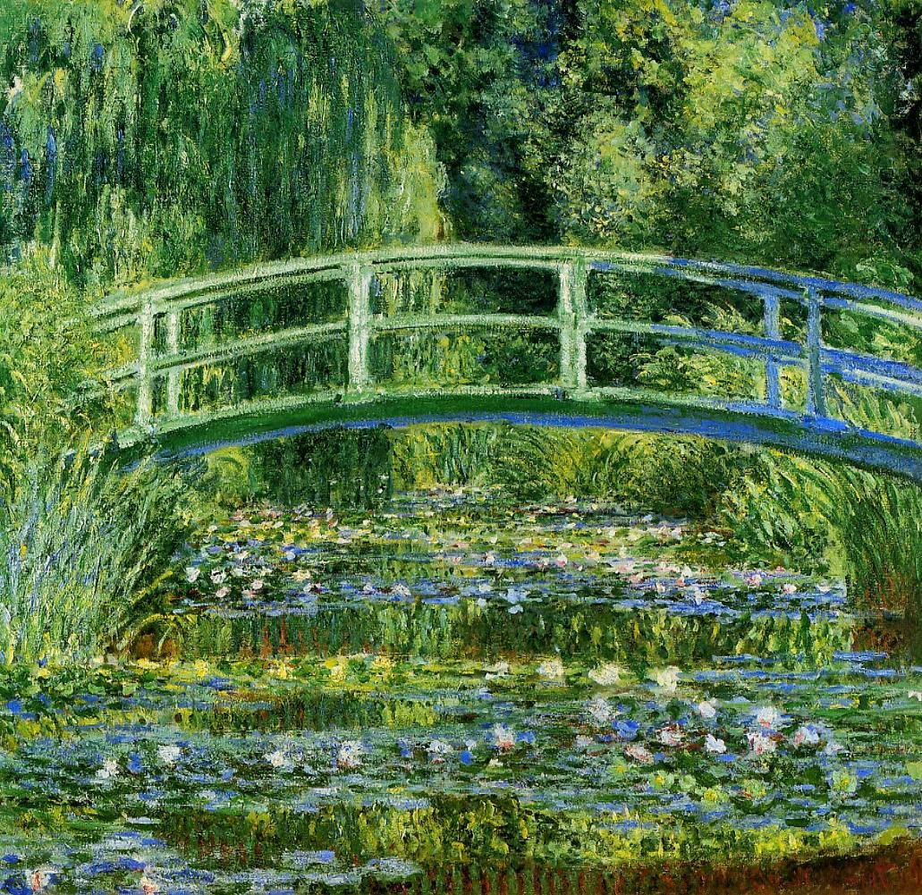 Waterlilies and Japanese Bridge, Claude Monet, 1897