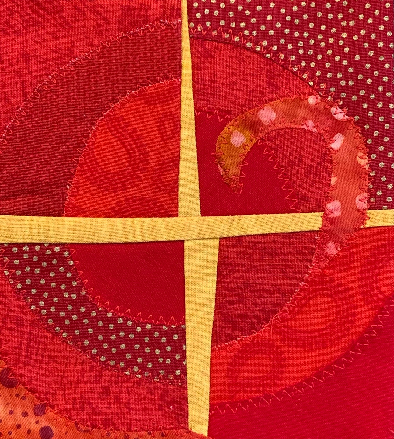 We love creating these contemporary Celtic crosses! And on a red background they are perfect on an Ordination stole