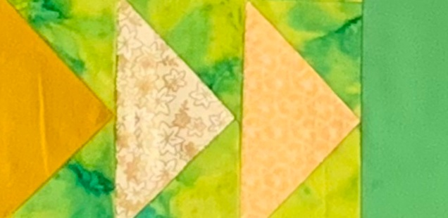 Do you know the legend of the flying geese and how it relates to Christian faith? This is our contemporary twist on that story and the traditional flying geese quilt block. See it in full  here.