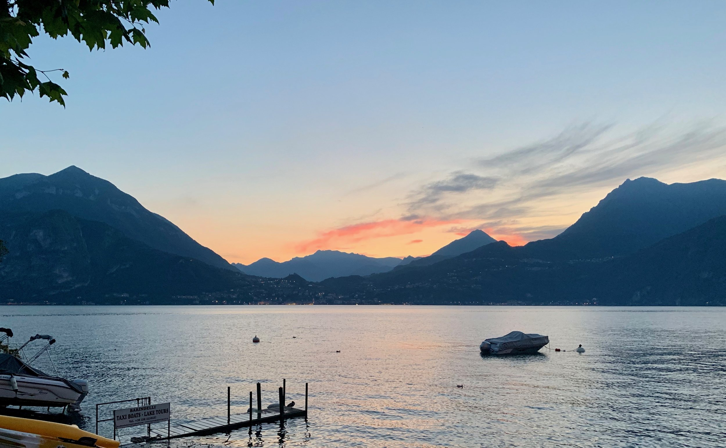 Lake Como is surrounded by the base of the Alps. The drama of the area was intoxicating.   Inspiration take away  — Gratitude to the Creator.