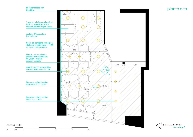 planta detallada de planta de acceso - emmme studio