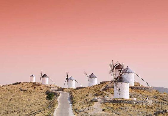 Fuente: Pinterest. Molinos de Consuegra (Castilla la Mancha)