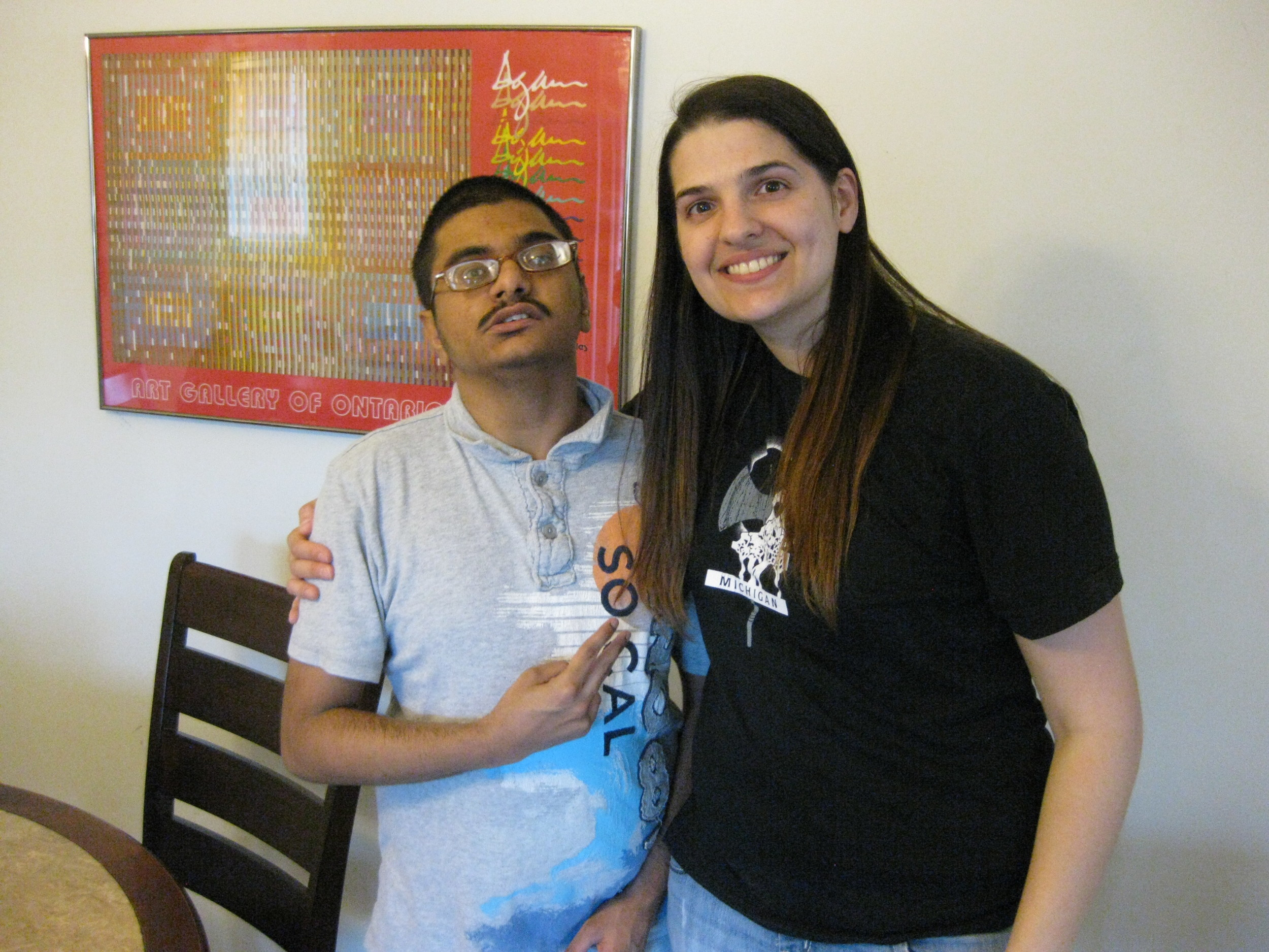 Keyur and Rosemary spending time together at his home in Farmington Hills