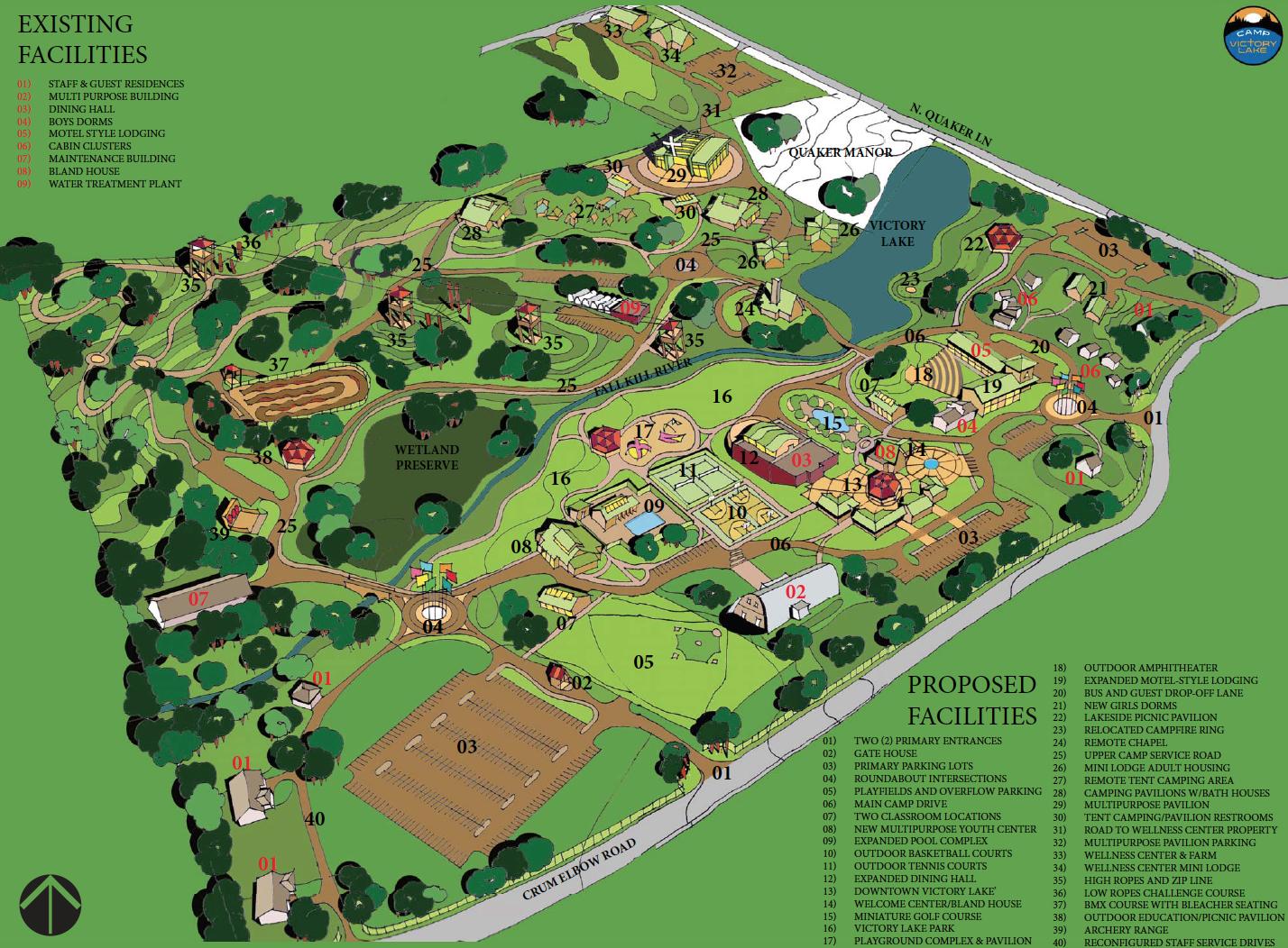 Proposed Camp Victory Lake Master Plan