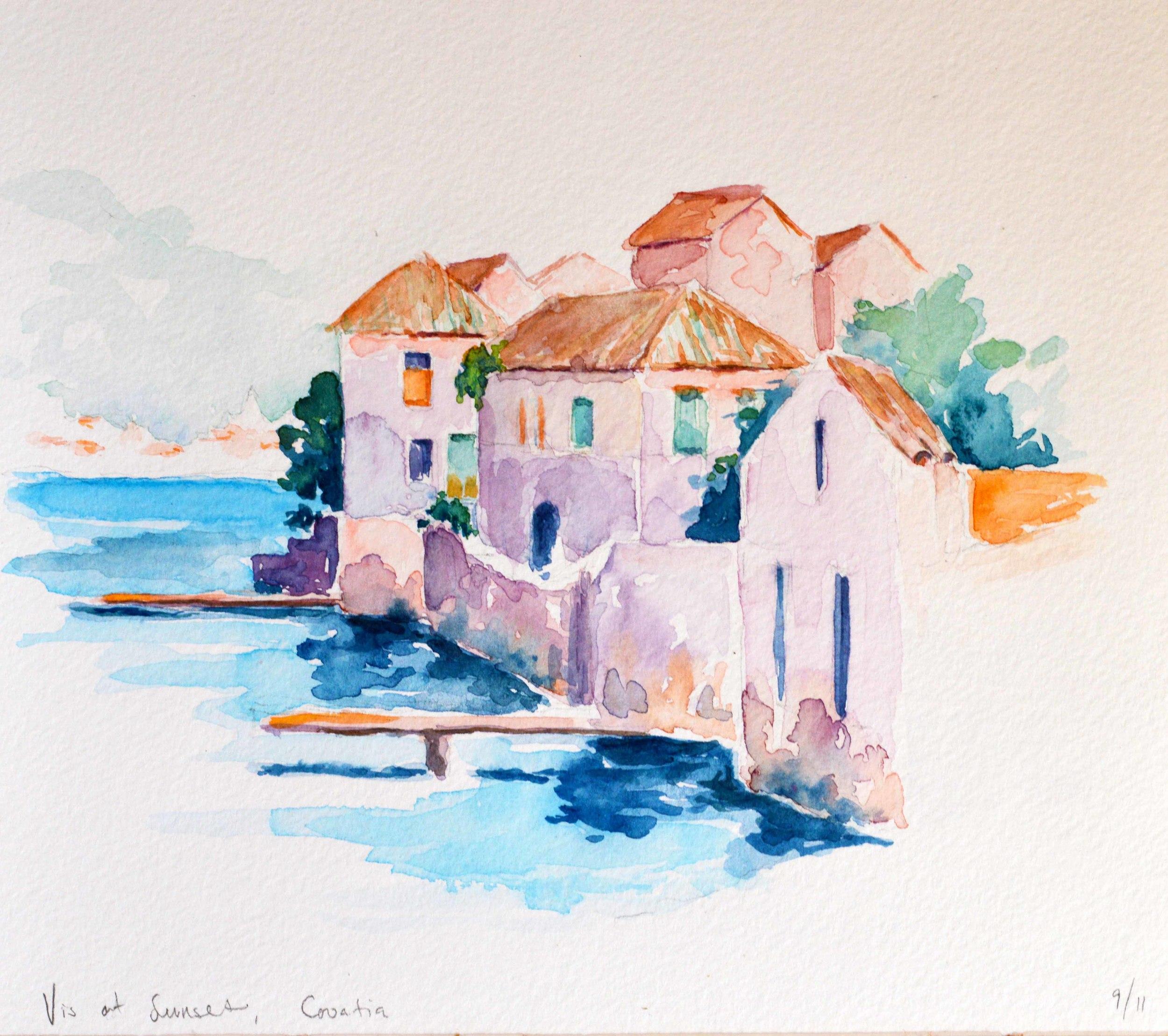 Watercolor Rendering, Island of Vis