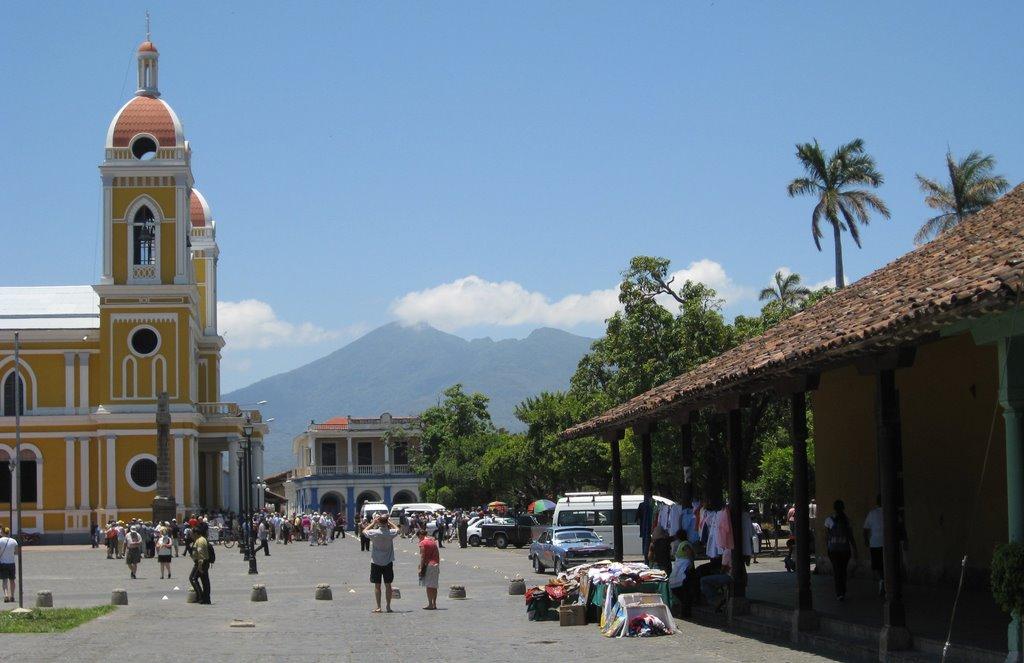 Mombacho Volcano behind Granada,Nicaragua