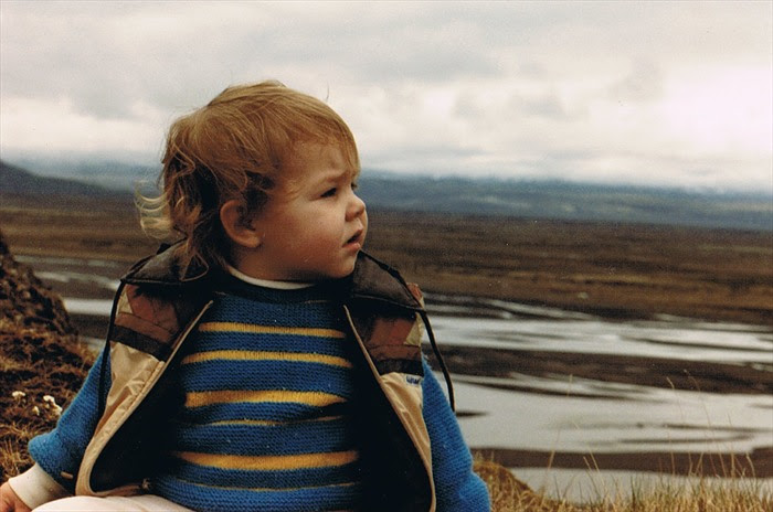 Me, probably just under two, overlooking an Icelandic landscape.  Sweater (not Icelandic) was hand-knit by my great grandmother.