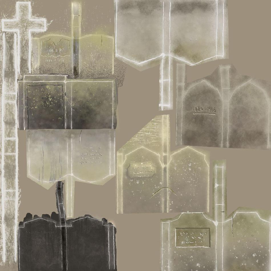 Texture for gravestones