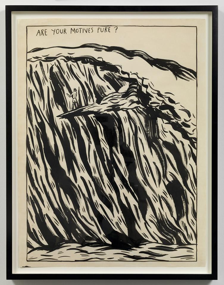 Raymond Pettibon Untitled (Are your motives pure?)..., 1987