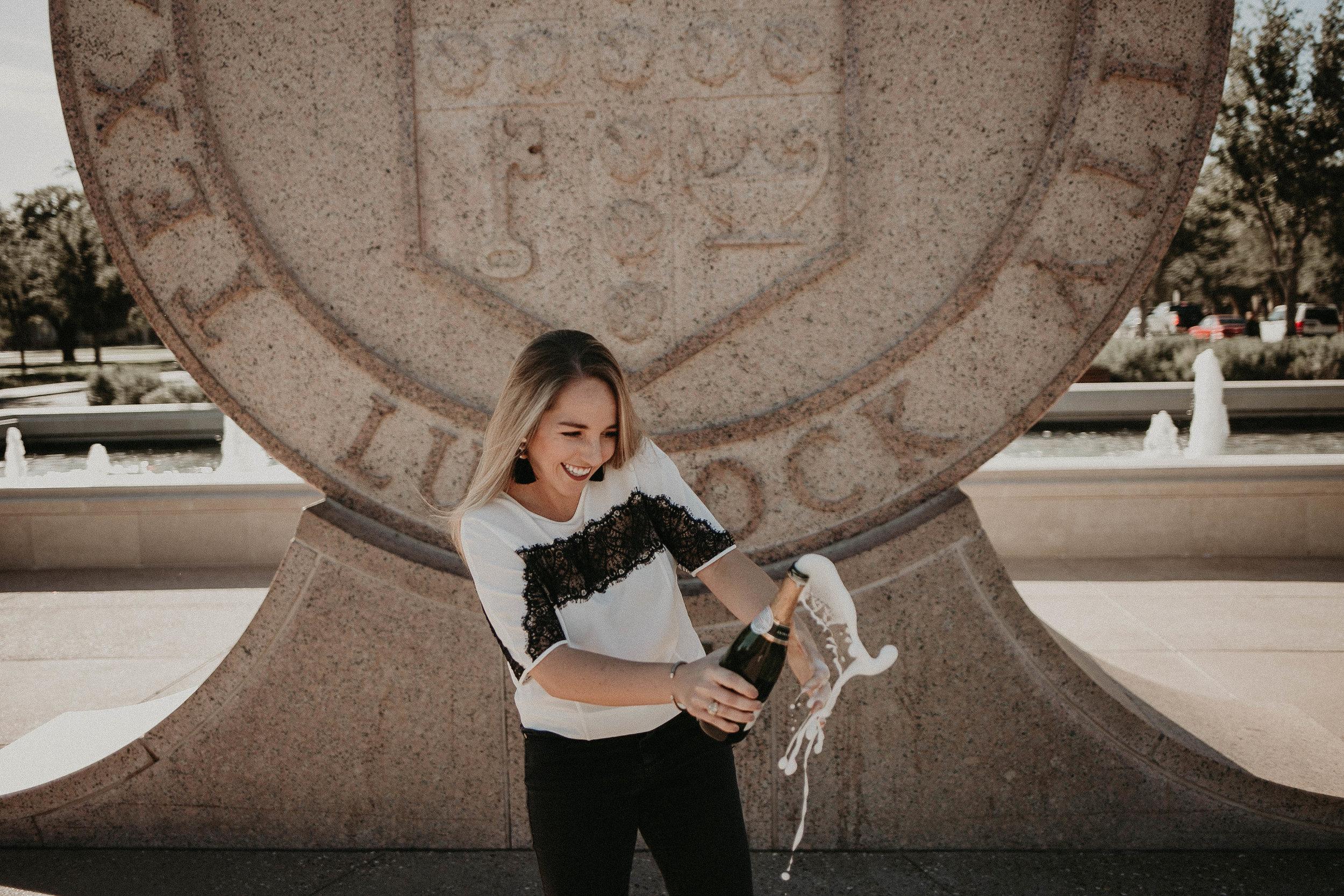 Kailee Ann Photography   Fine Art Portrait Photographer Lubbock, Texas   Whitney Texas Tech University Graduate Photos