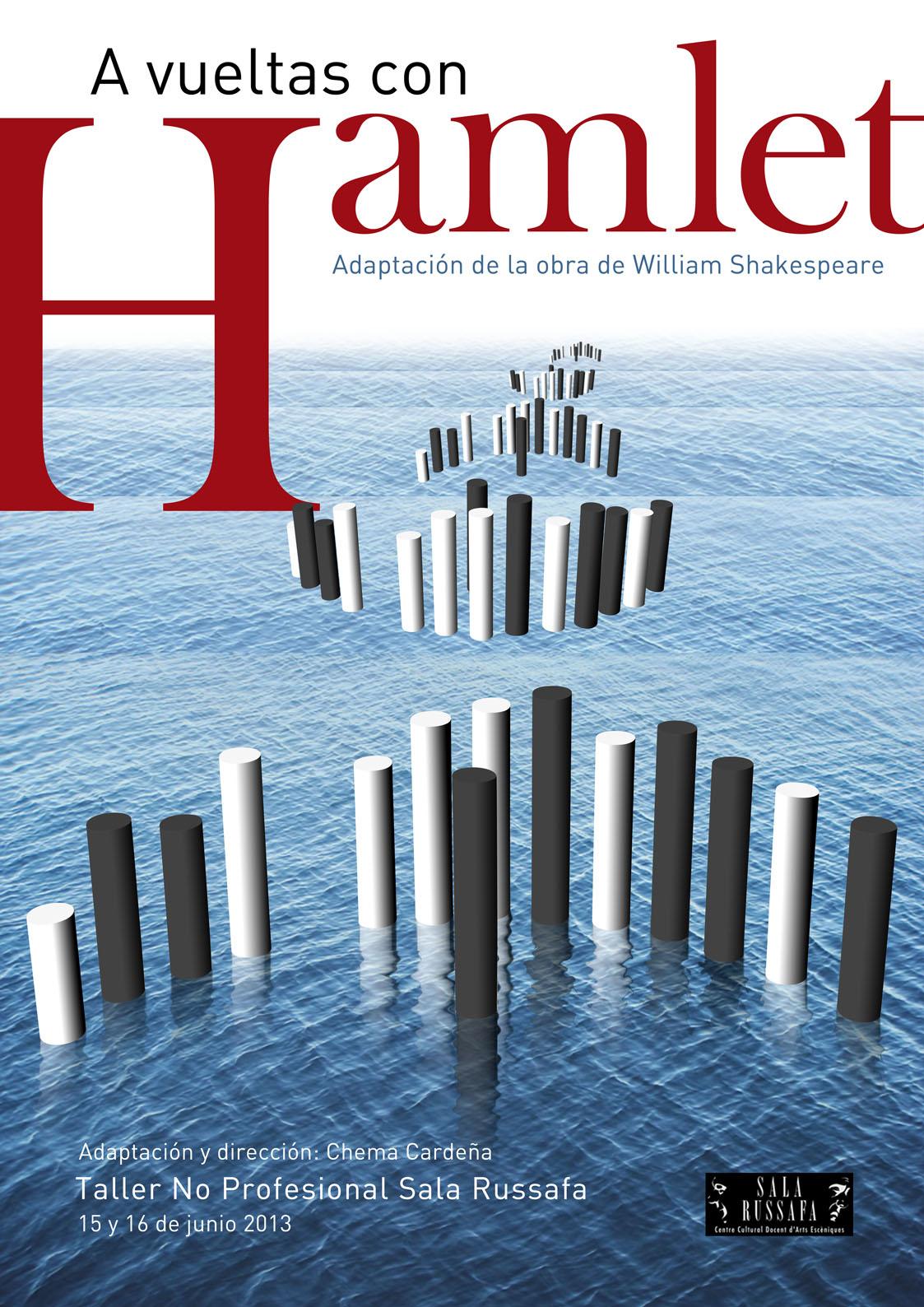 Cartel 'A Vueltas con Hamlet'
