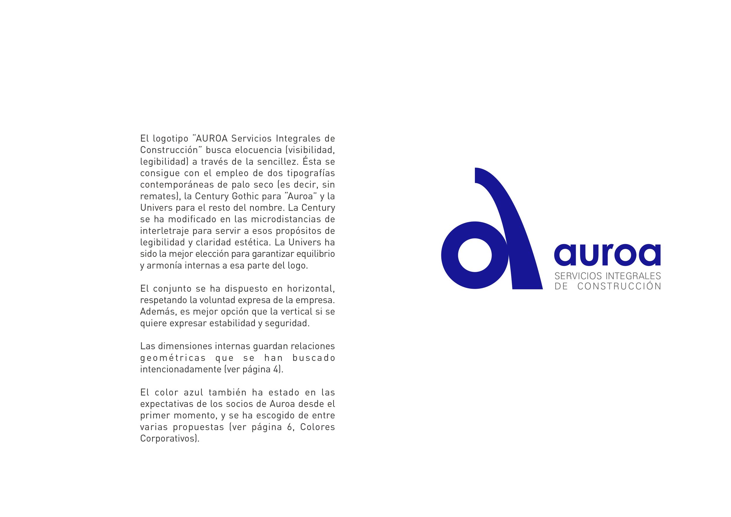 Logotipo para Auroa, Servicios Integrales de Construcción