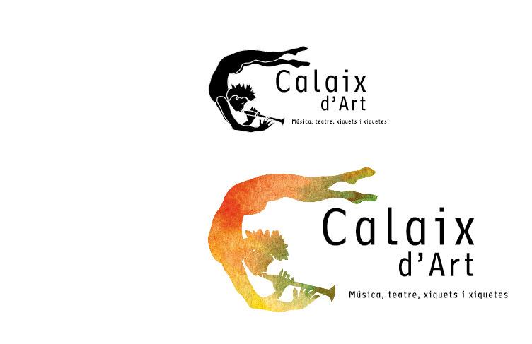 Logotipo para Calaix d'Art, Escola de Música i Teatre per a xiquets i xiquetes