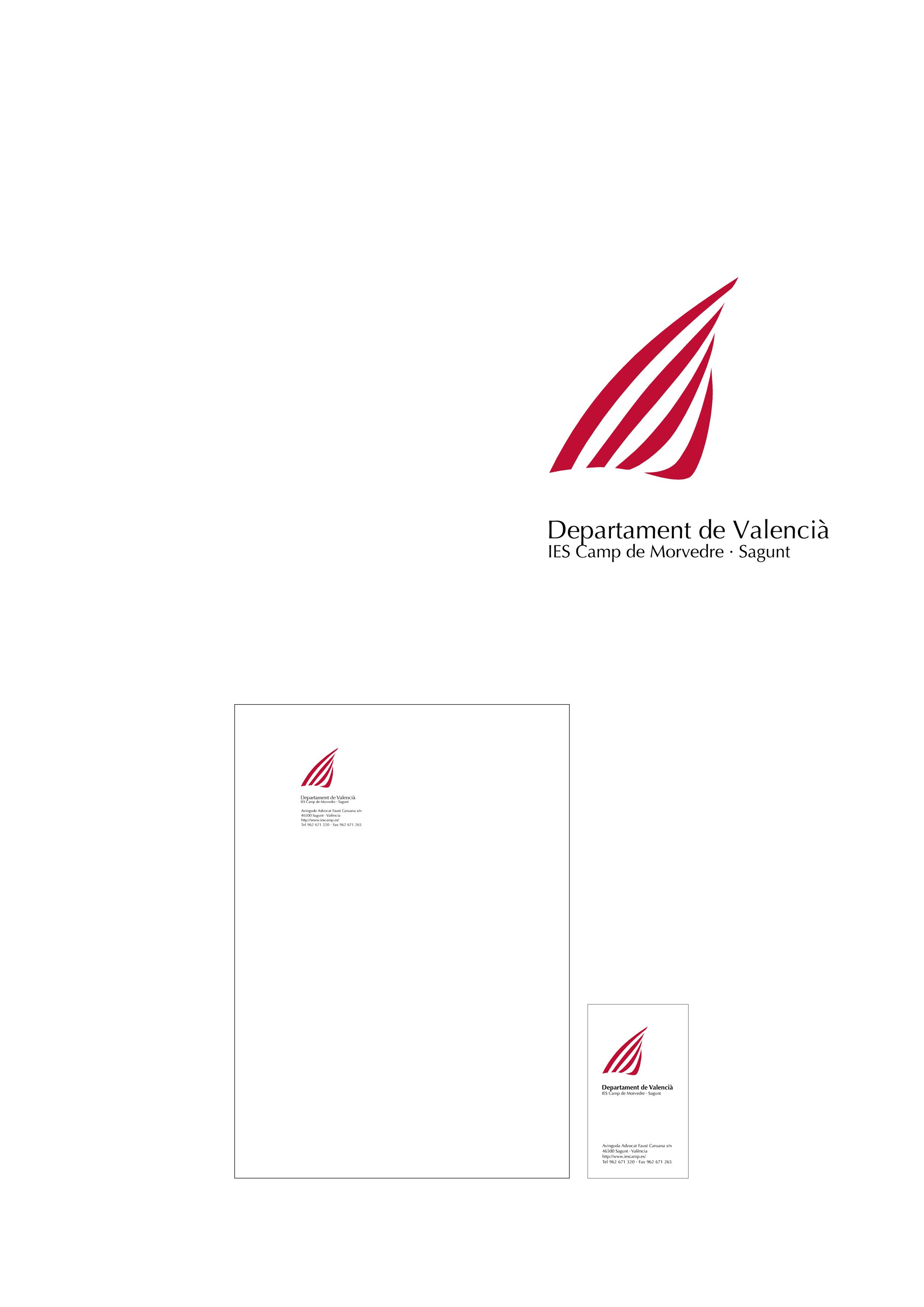 Logotipo y aplicaciones para el Departament de Valencià del IES Camp de Morvedre, Sagunt