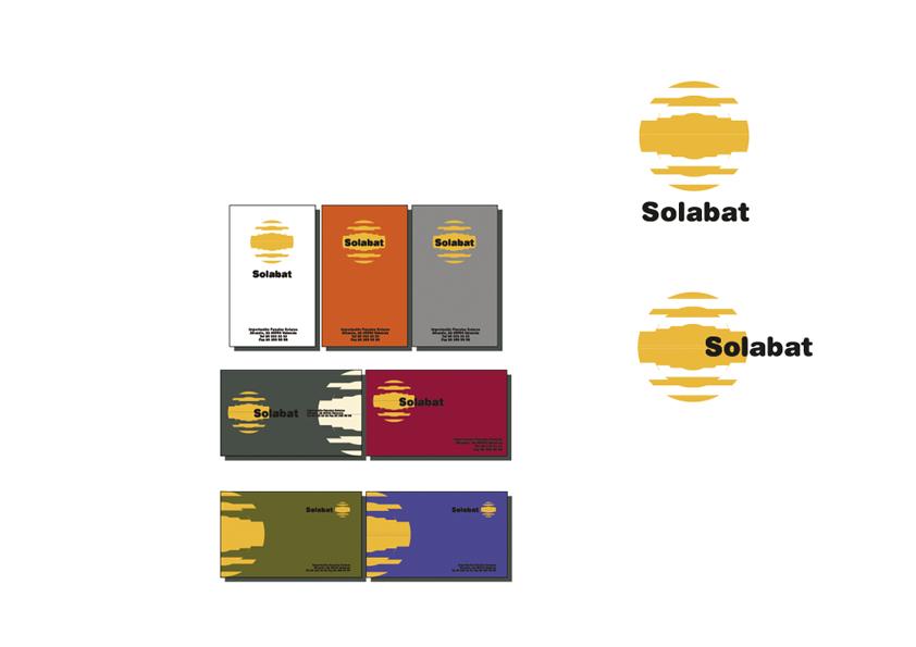 Logo y tarjetas para Solabat, empresa de energía solar