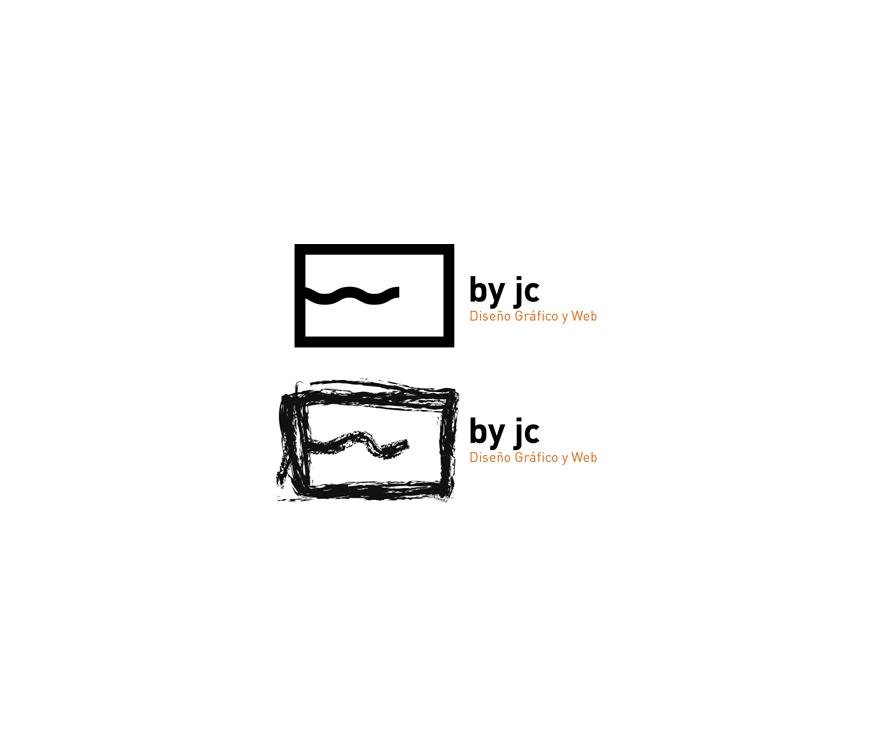 Logotipo 'By jc, diseño gráfico y web'