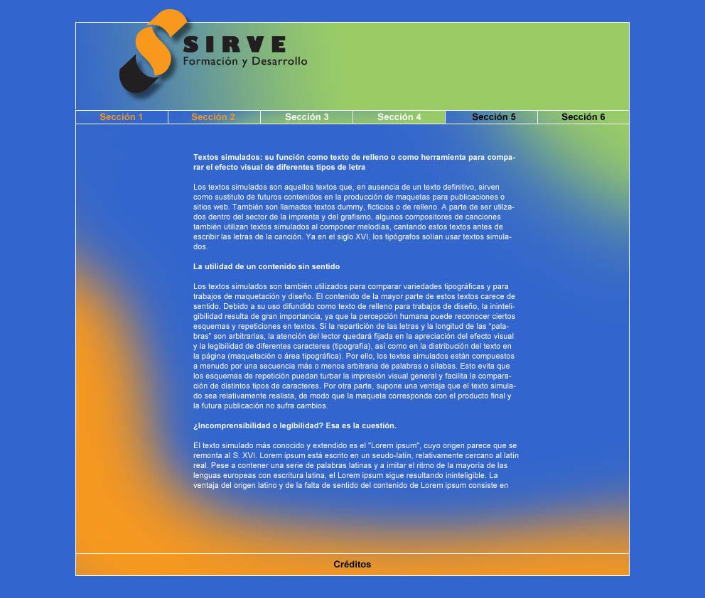 Proyecto de web para Sirve, Formación y Desarrollo