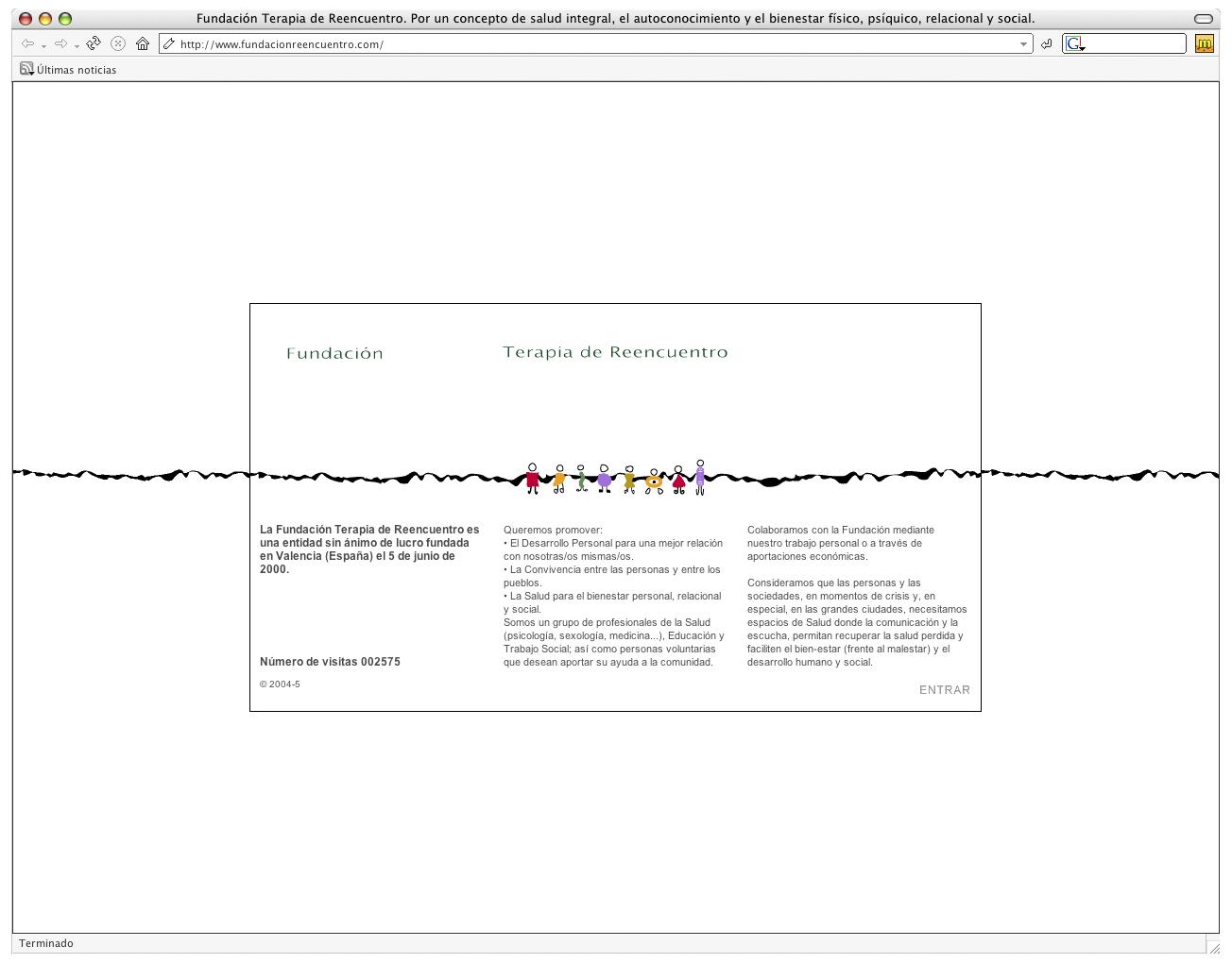 Web para la Fundación Terapia de Reencuentro