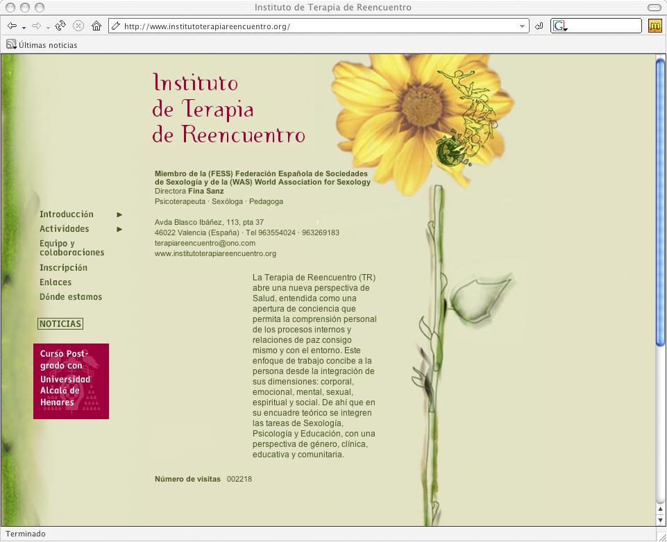 Web para el Instituto Terapia de Reencuentro