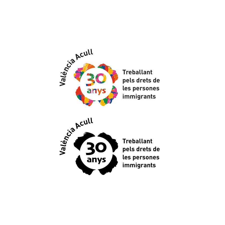 Logo para el 30' Aniversario de Valencia Acoge