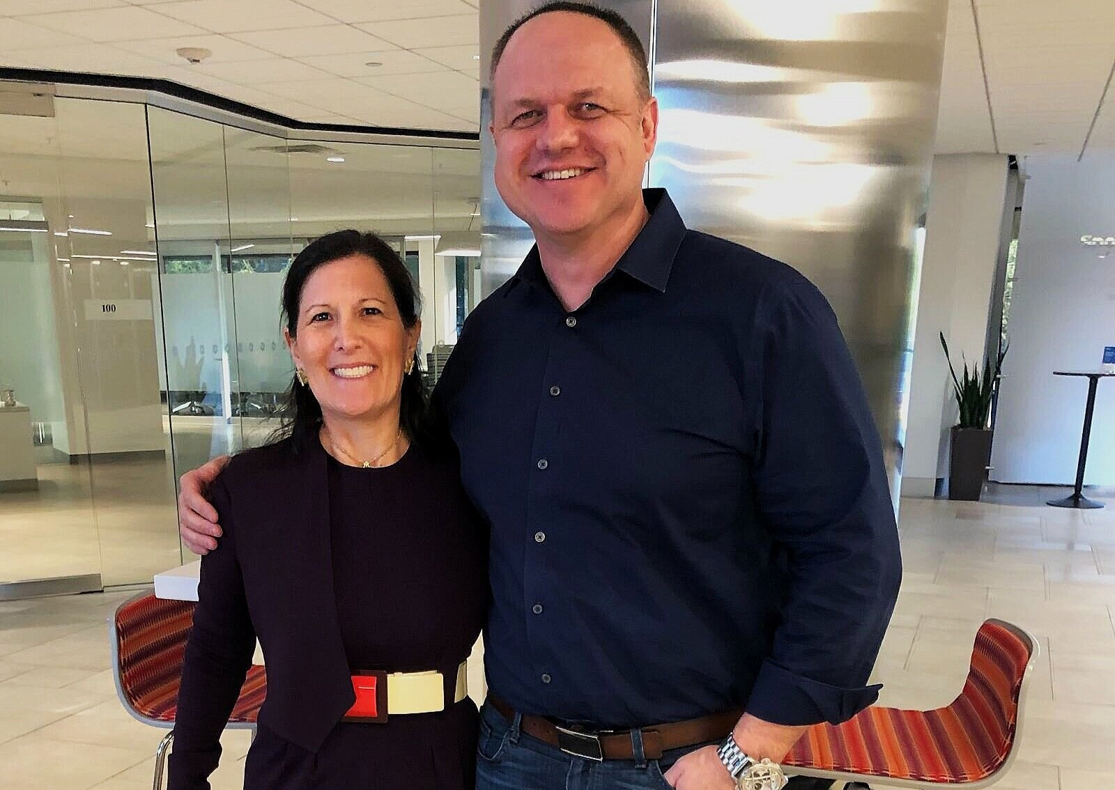 The latest adventure as Shmoop's new CEO - Ellen Siminoff (left) and Andy Rahden (right)