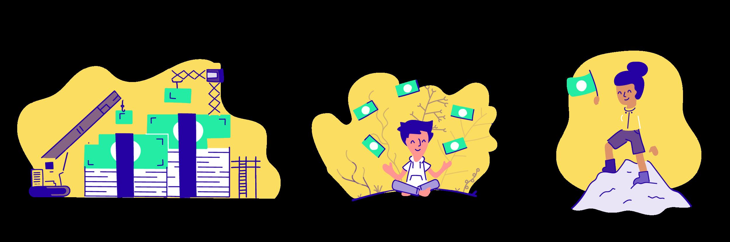 Illustrations for an investor presentation