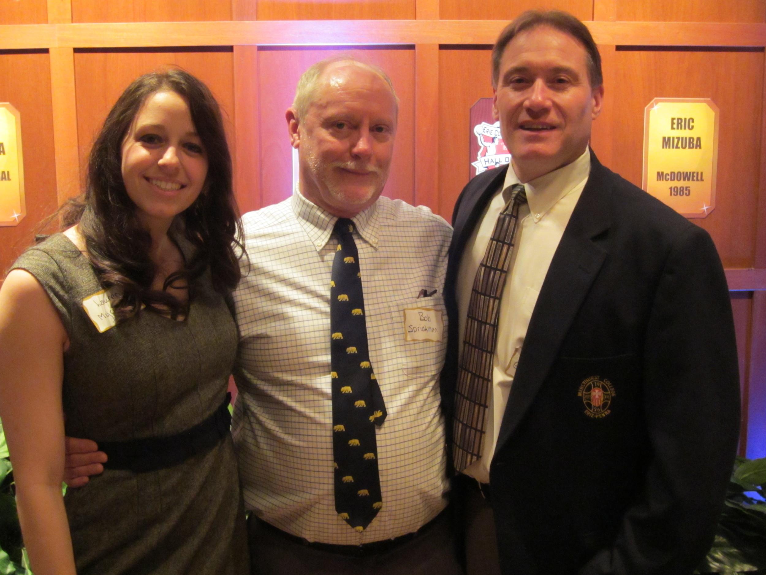 Lauren Myrick, Bob Sprickman and Daryl Georger