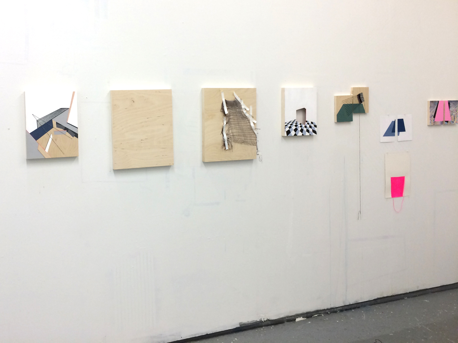 studio wall, works in progress