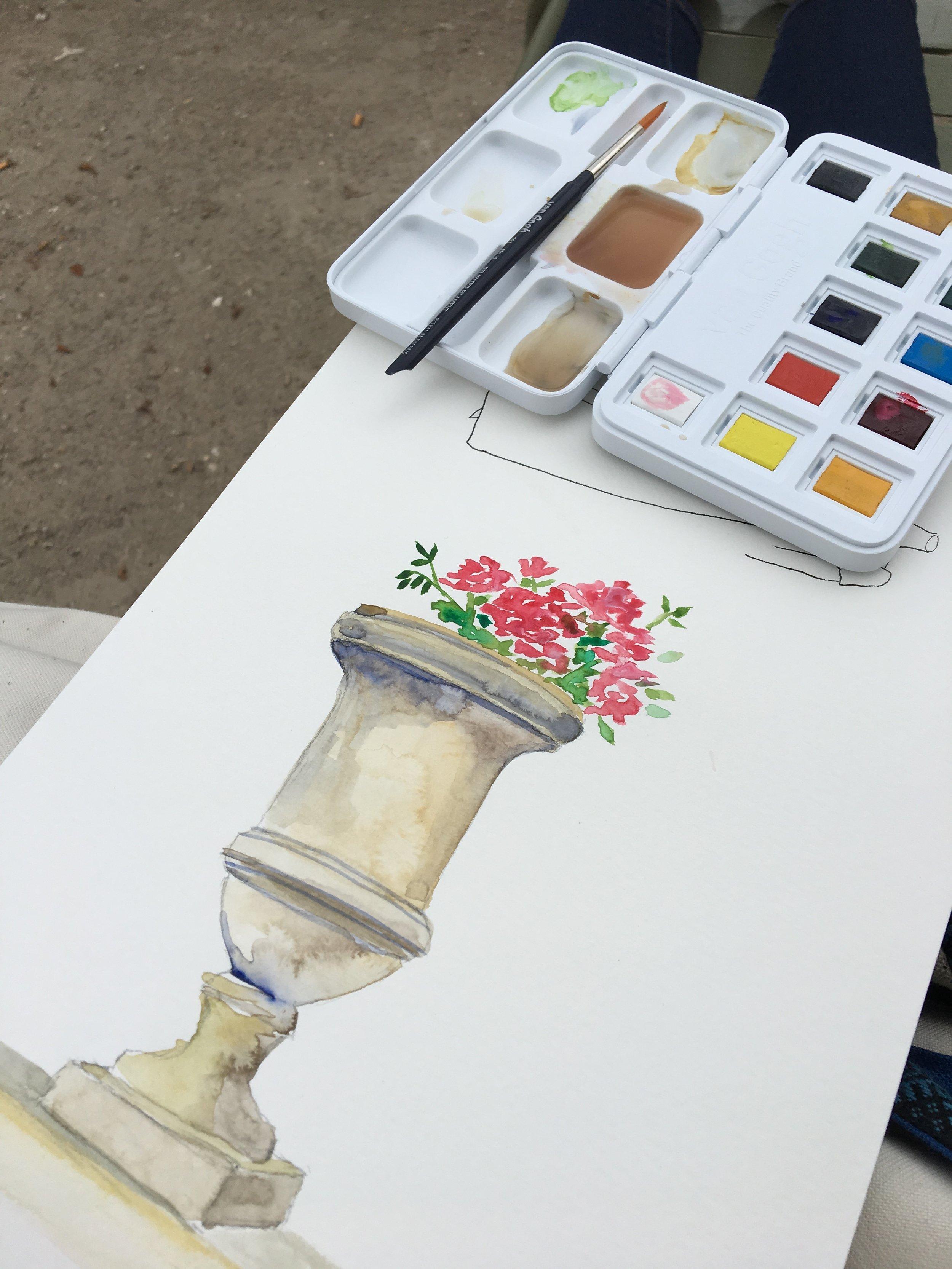 Sketching, Jardin du Luxembourg