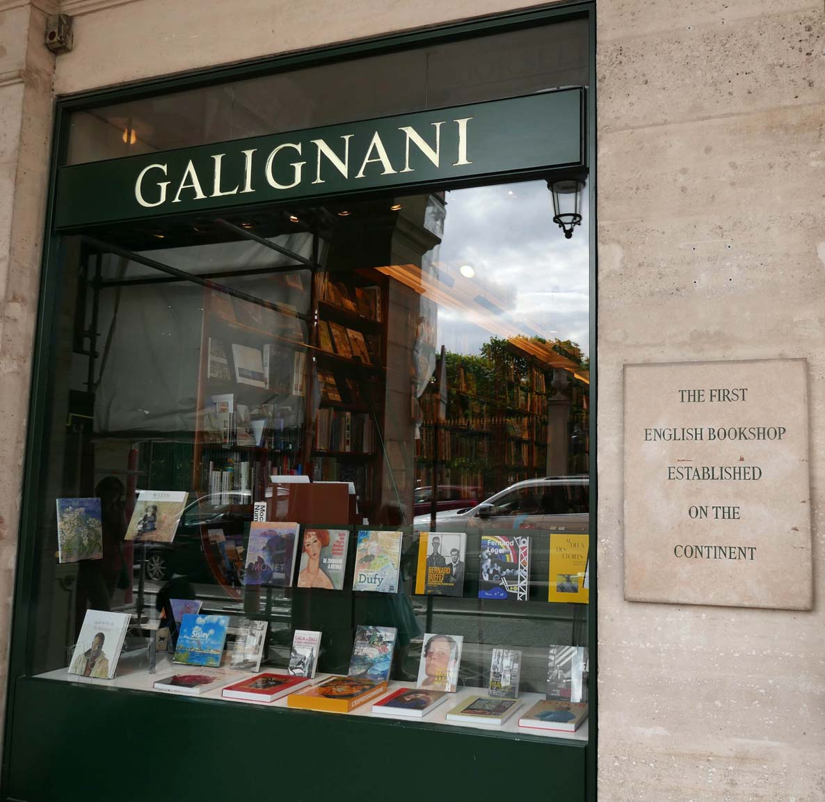 Galignani Bookstore, also visited by the Joneses in 1844