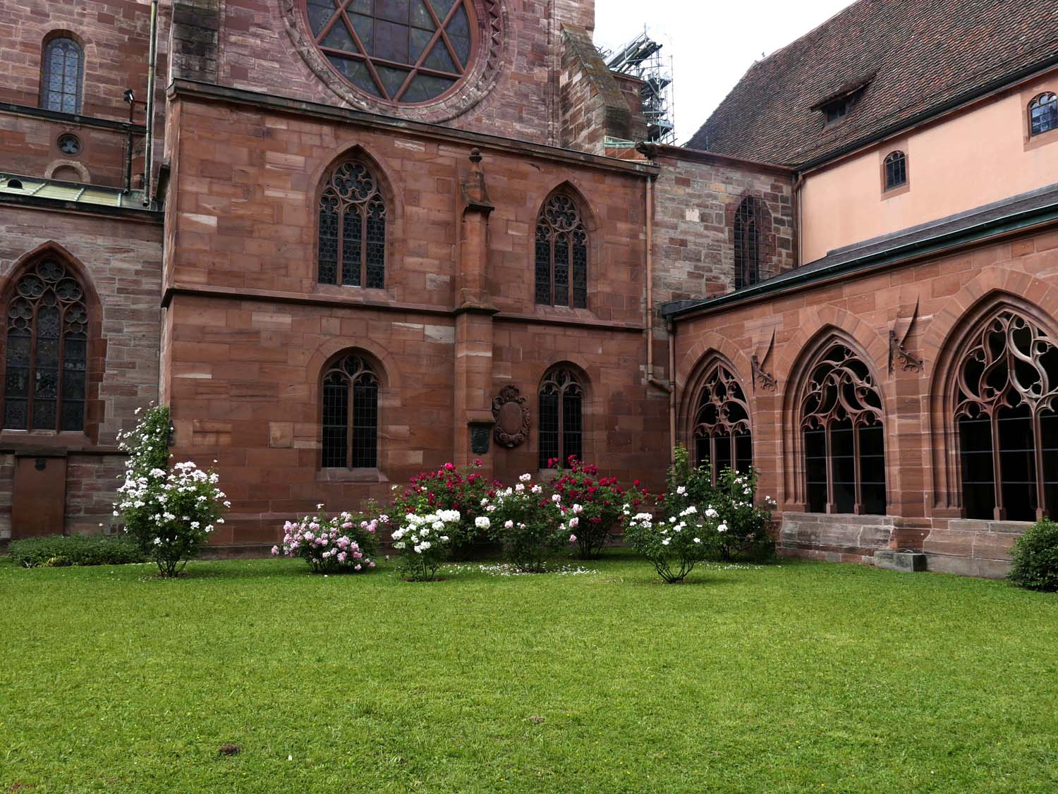 The courtyard of the Basler Münster