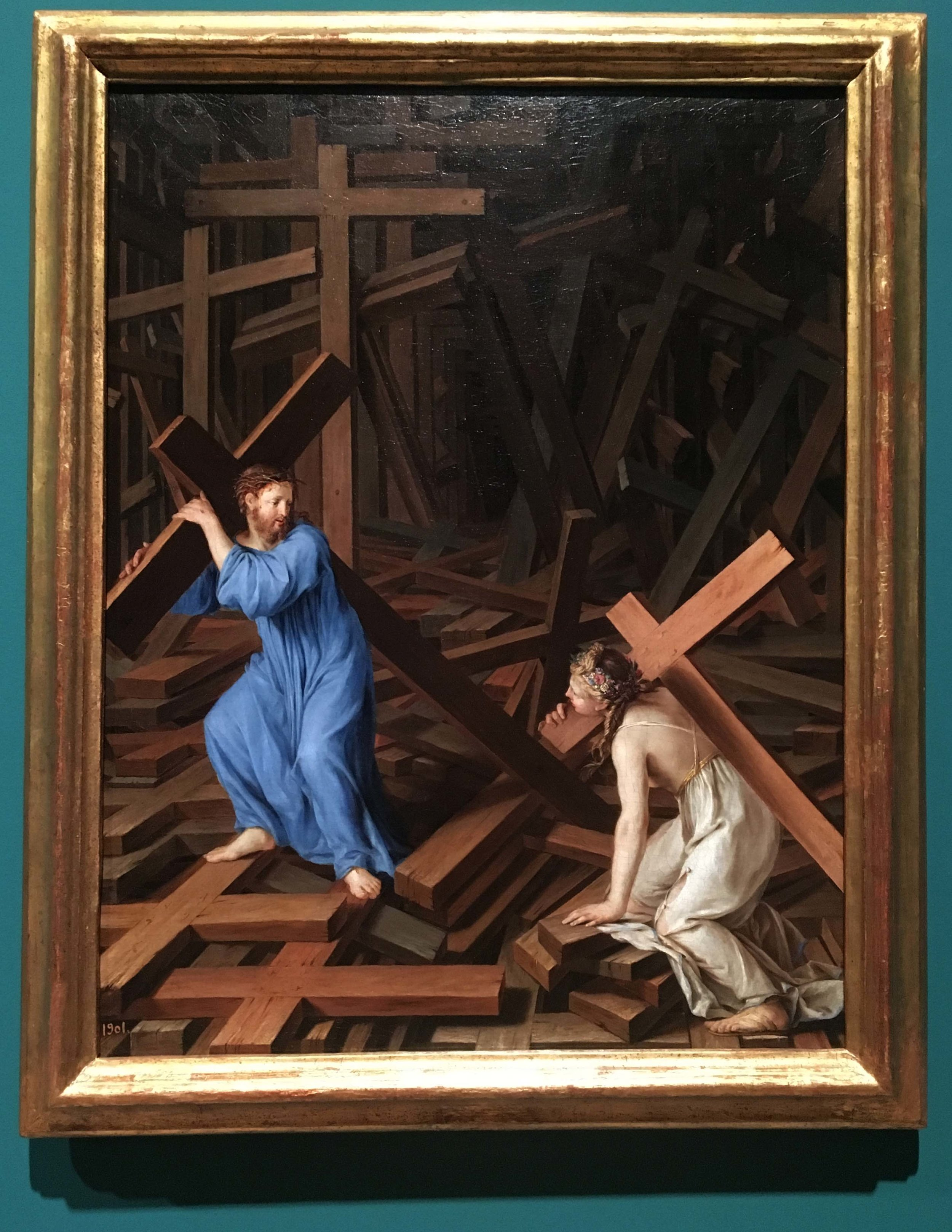 Unknown French, The Christian soul accepts the cross, 1630