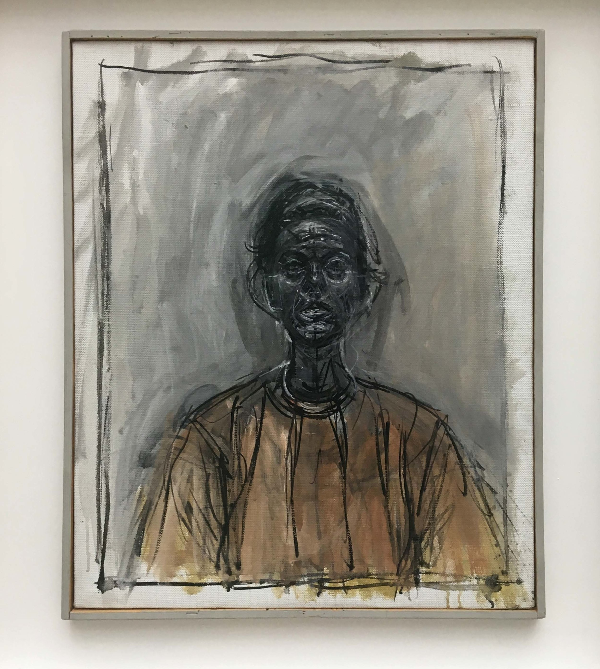 Alberto Giacometti, Portrait of Annette with a yellow blouse, 1964