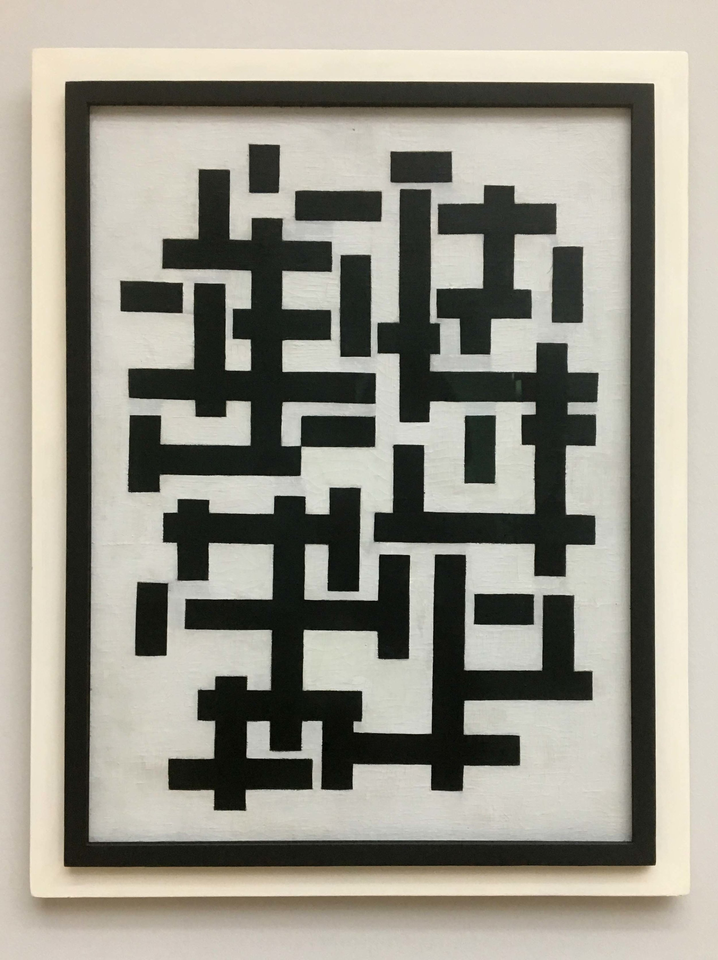 Theo van Doesburg, Composition XII in black and white, 1918