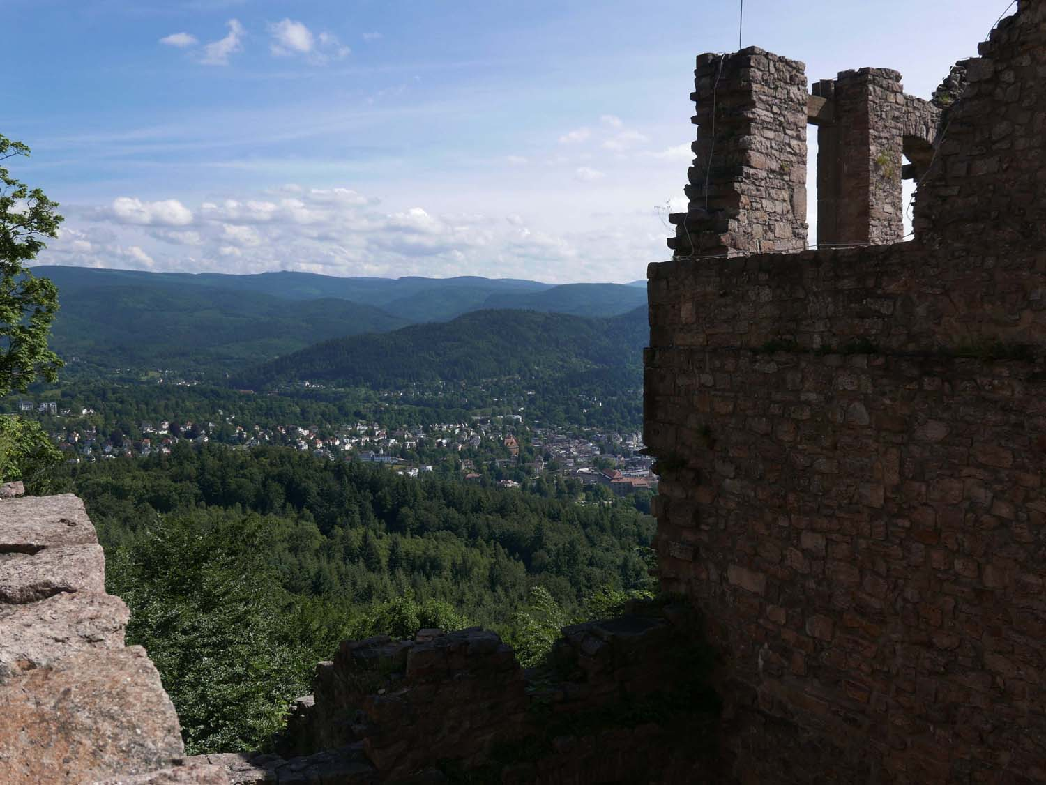 view of Baden-Baden from the castle
