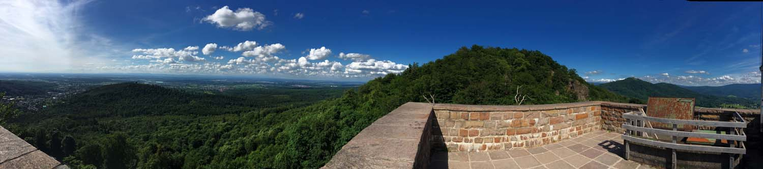 panorama from top of castle