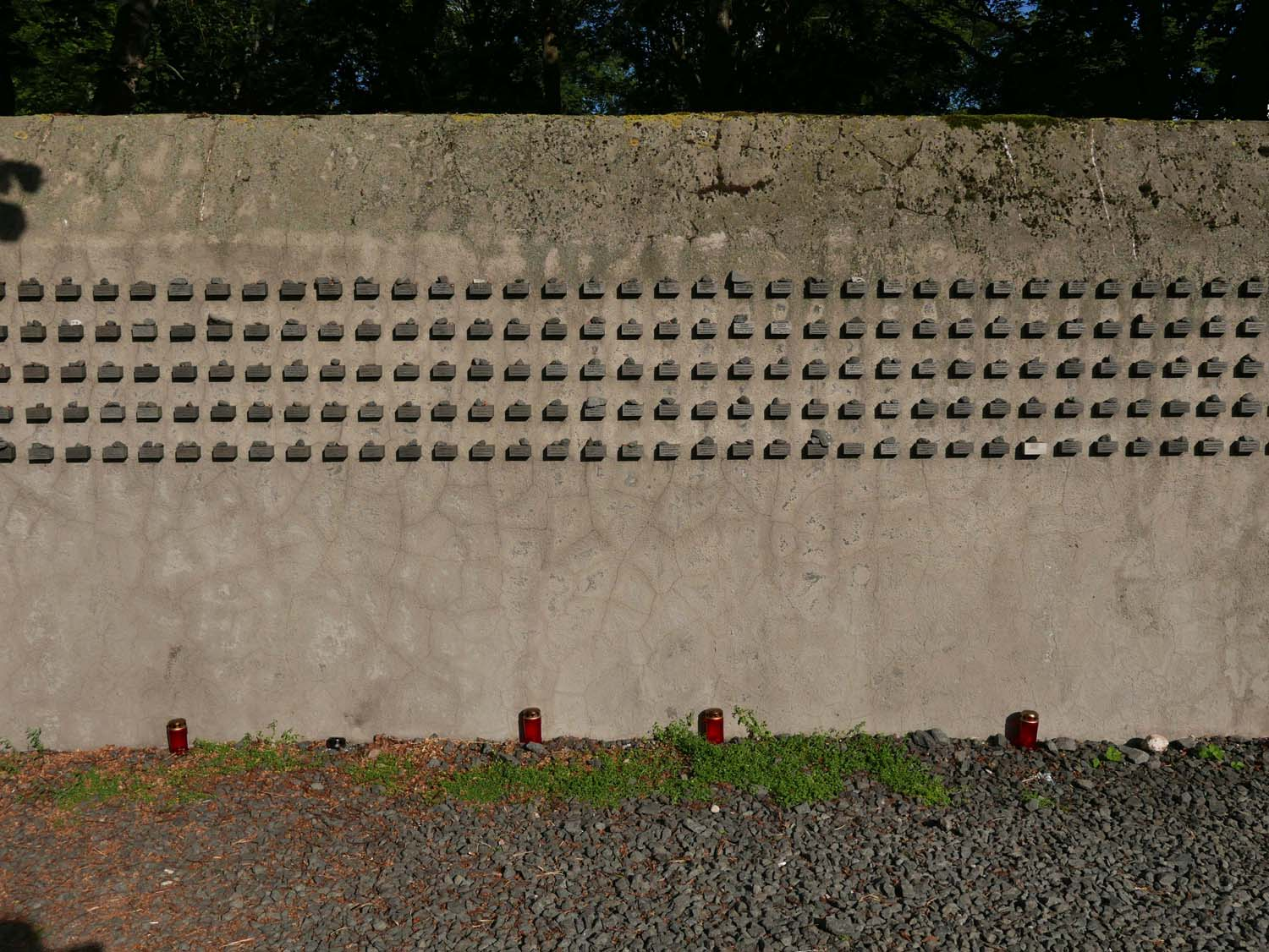 Memorial wall in the former Jewish quarter