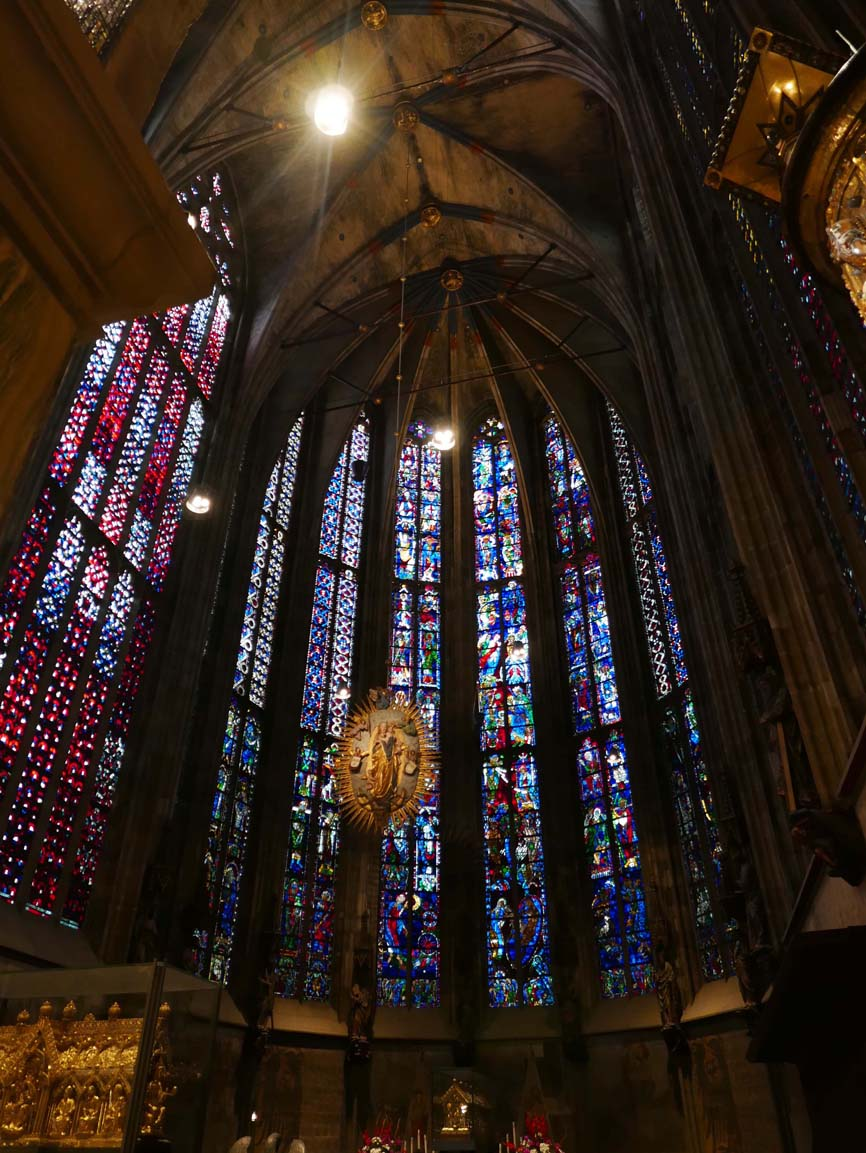stained glass in the Aachener Dom