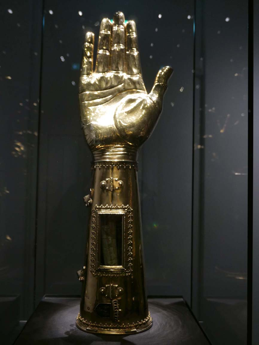 Charlemagne's arm (bone inside)