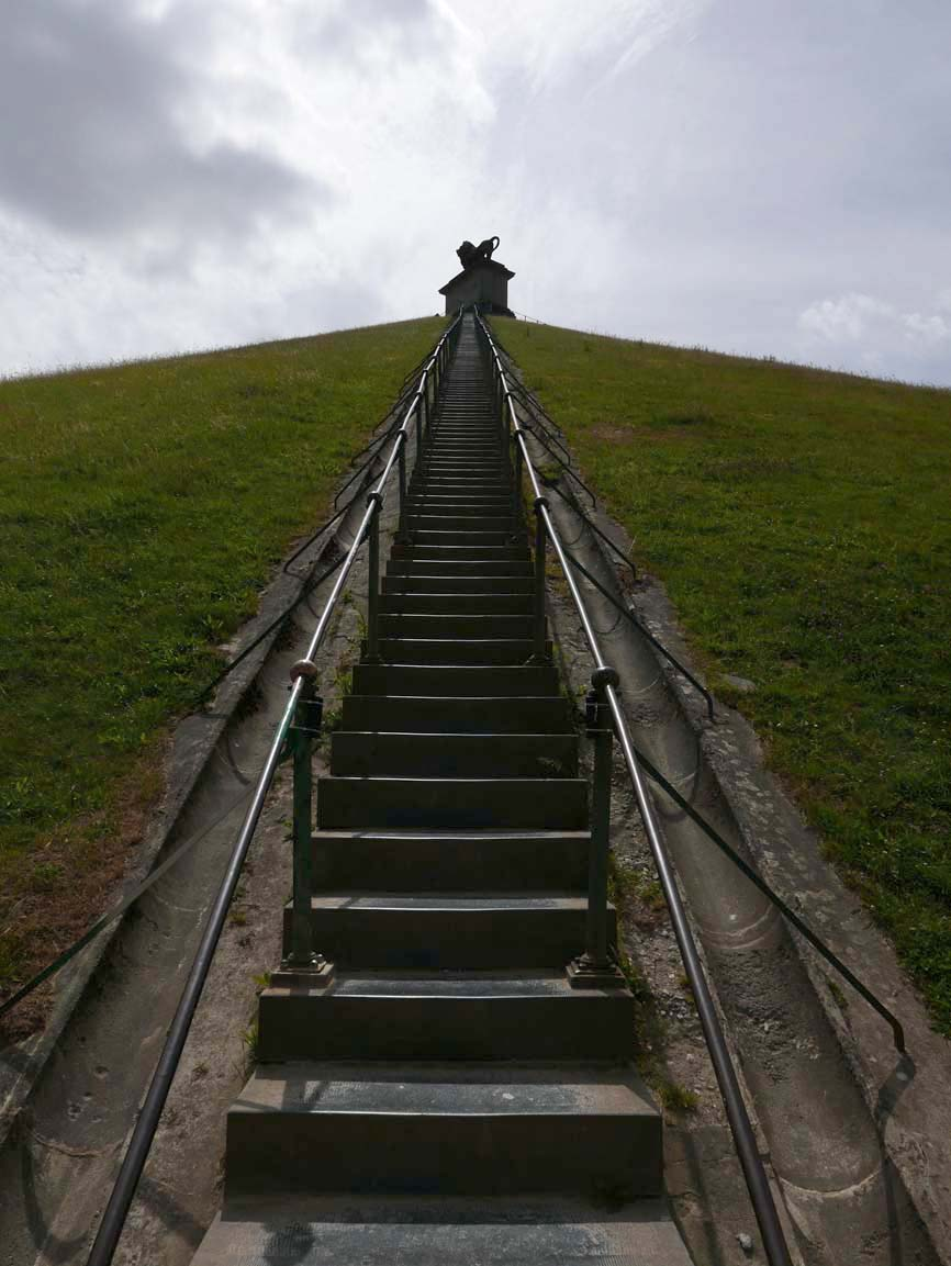 steps up to the monument