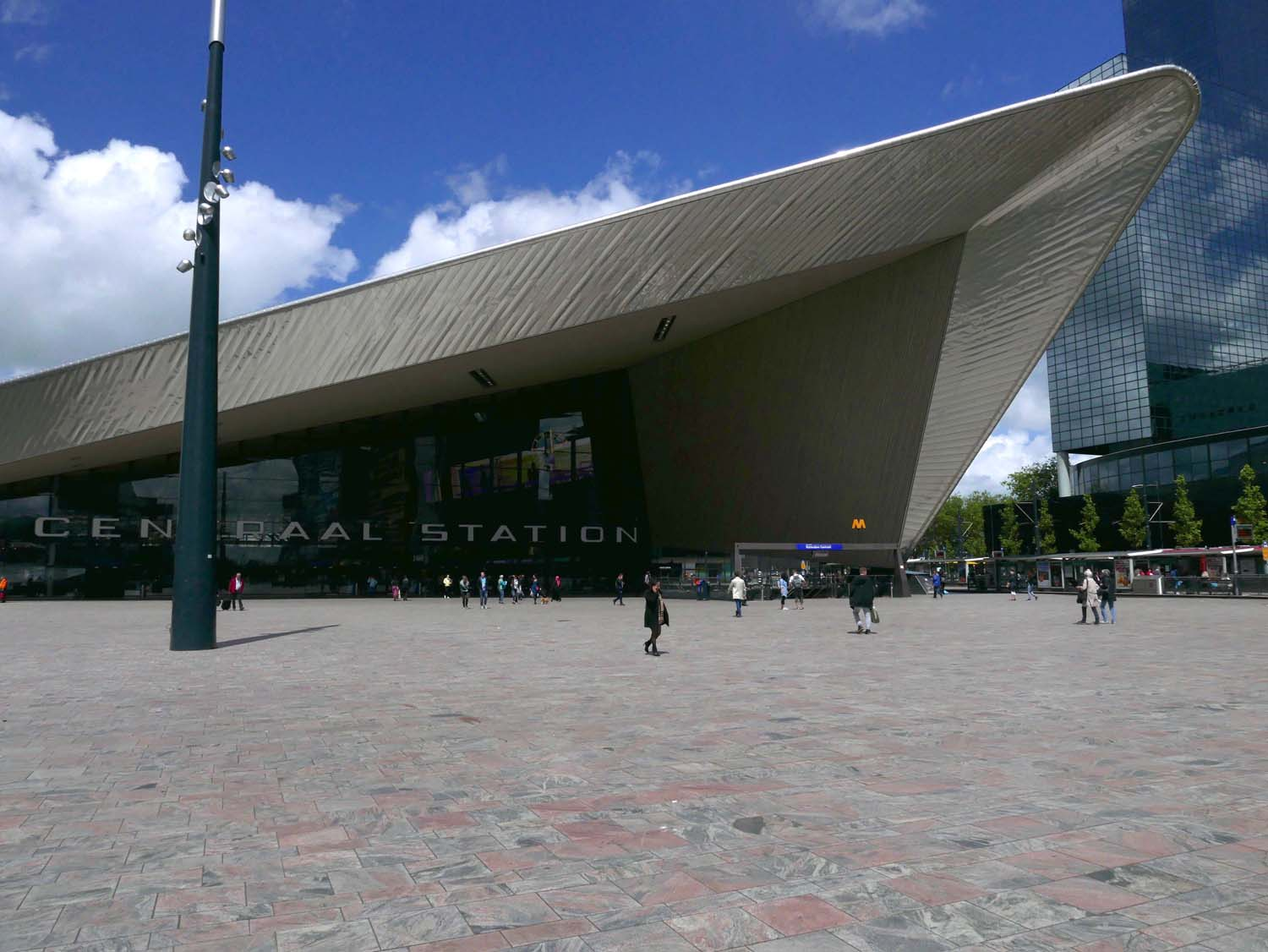 Centraal Station, the main train station, redesigned by Benthem Crouwel Architects + MVSA Architects + West 8