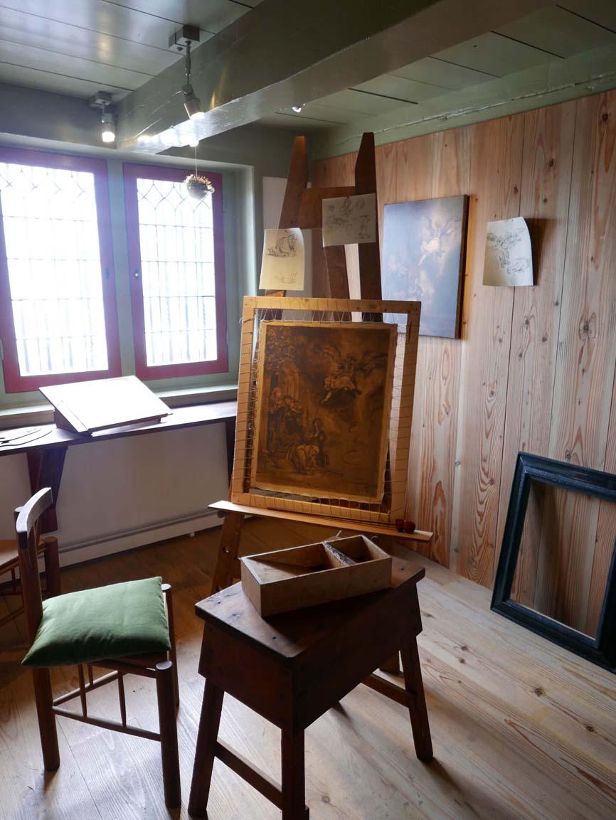 in the student studio
