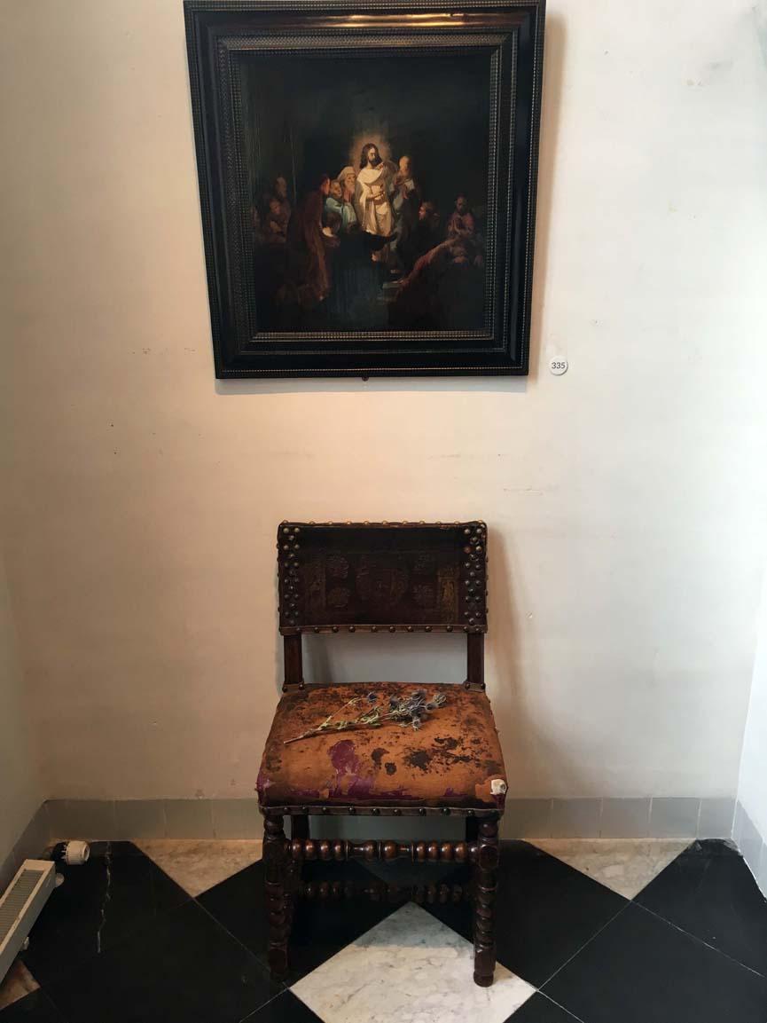 Chair portrait: Rembrandt's house