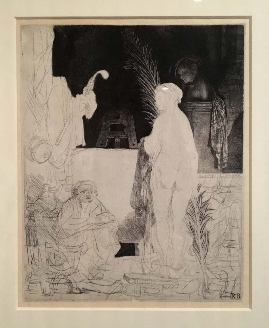Rembrandt, The Artist in the Studio, unfinished etching