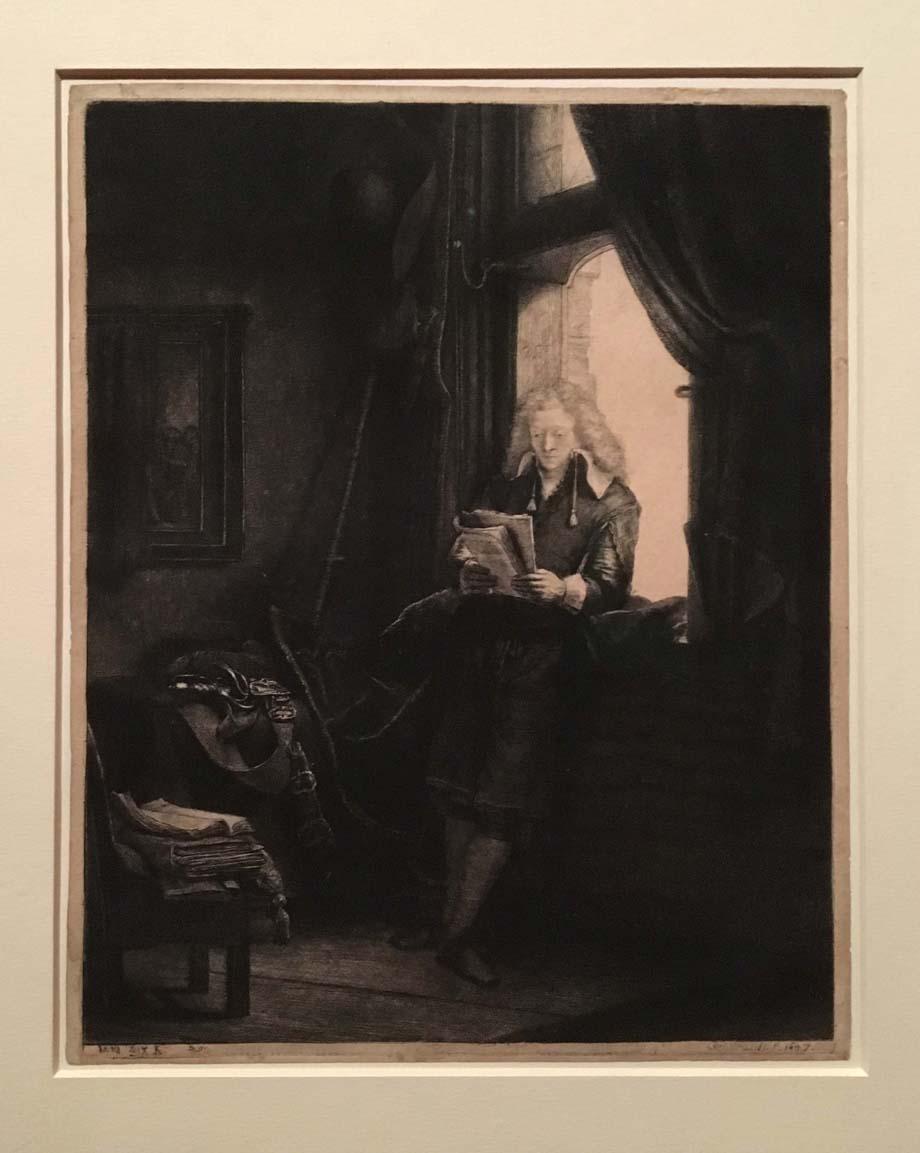 Rembrandt, Portrait of Jan Six, etching