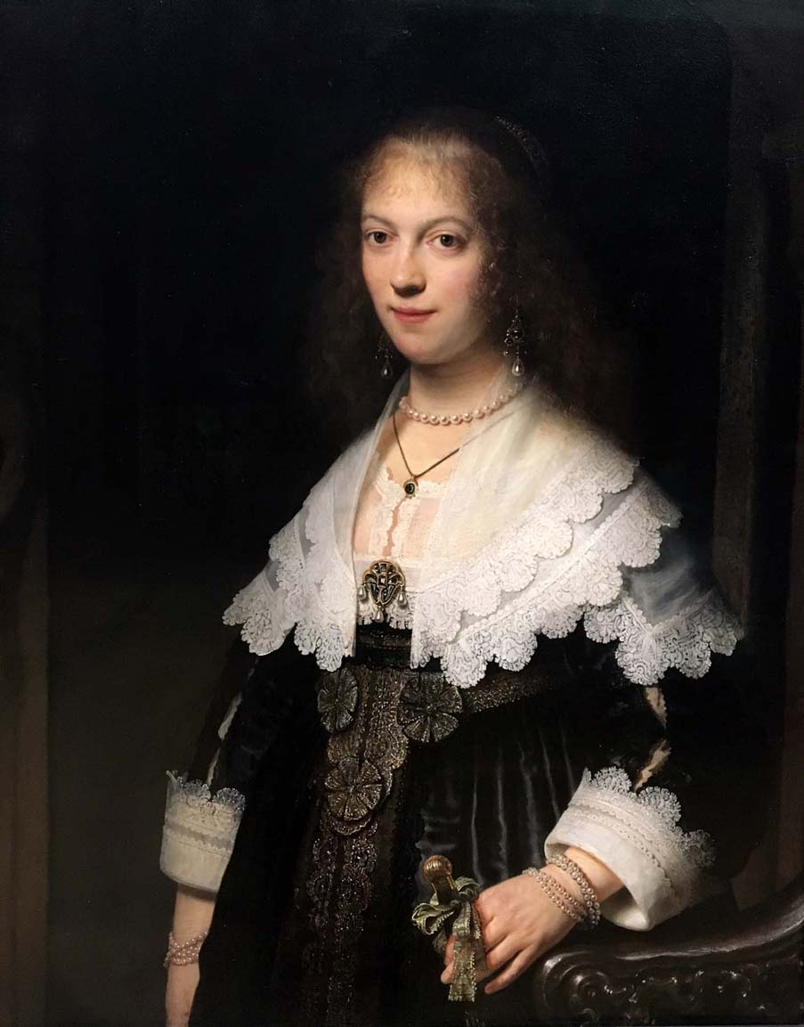Portrait of a Woman, possibly Maria Trip, Rembrandt, 1639