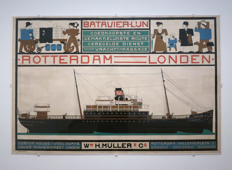 Batavier Line Poster, Bart van der Leck, 1916