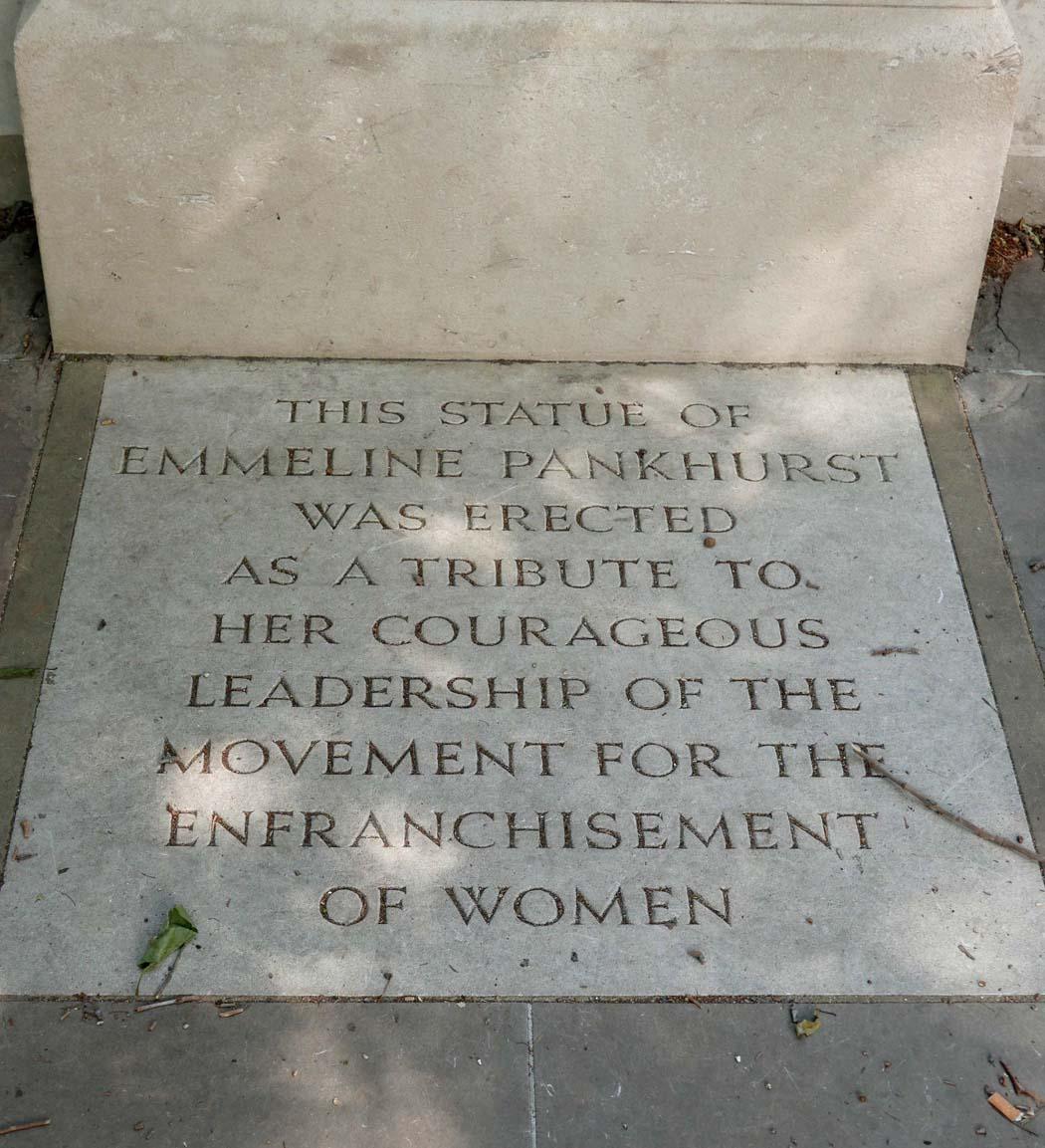 Emmeline Pankhurst memorial
