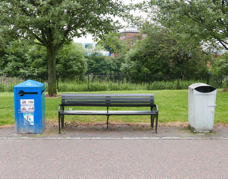 Bench portrait, Glasgow Green