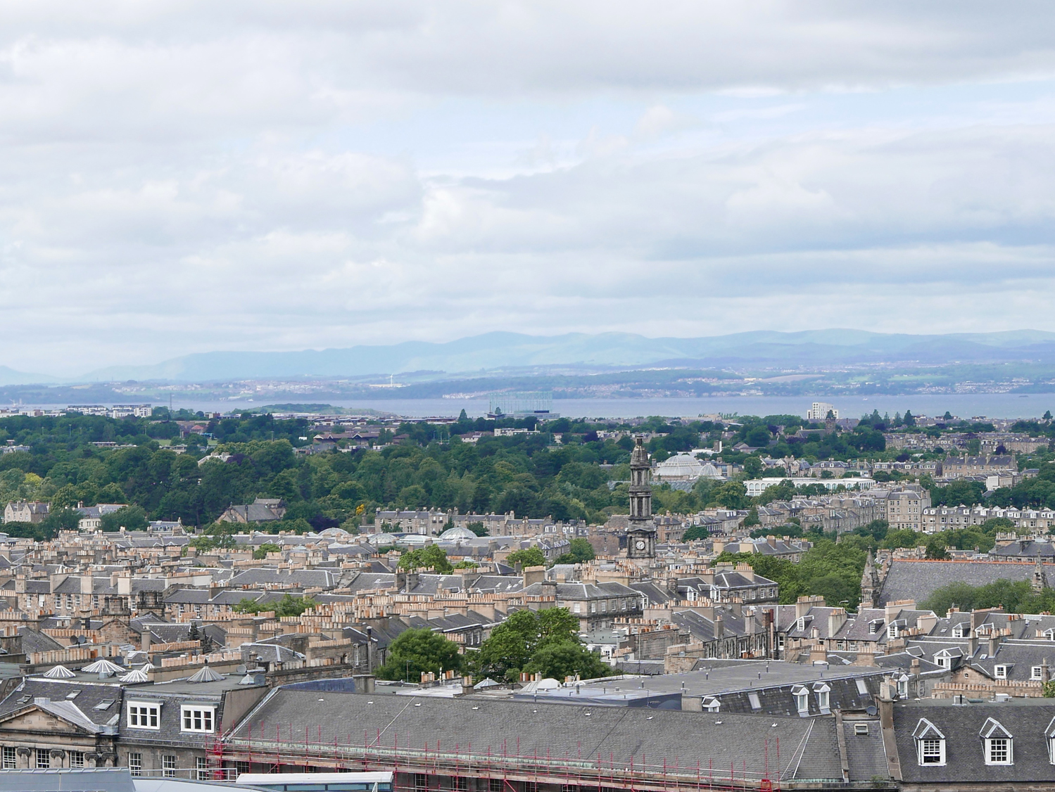 view of The Firth of Fourth from Calton Hill